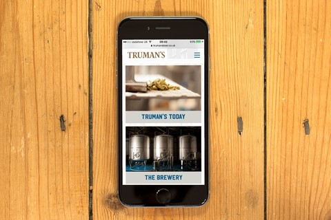 Cheers! New website for Truman's