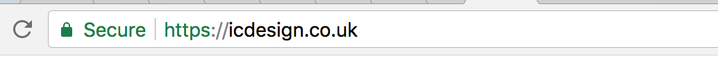 The green padlock is clearly visible in the address bar of your browser