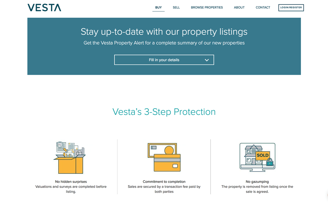 IC Design | Website design and digital marketing collateral for Vesta