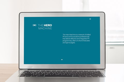 PR Agency The Hero Machine gets a new brand and website