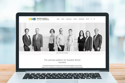 New website for the Swedish Chamber of Commerce