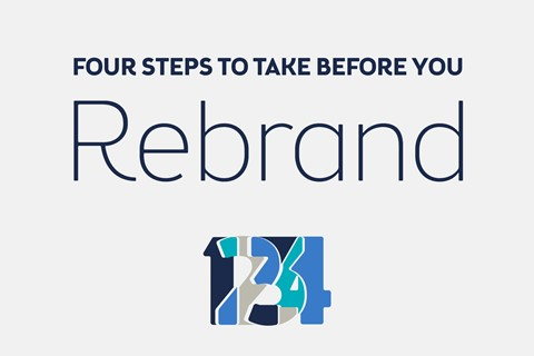Four steps to take before you rebrand